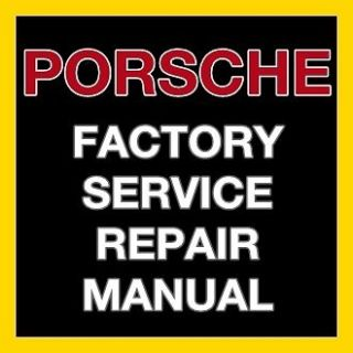 PORSCHE BOXSTER 987 2005 2006 2007 2008 FACTORY SERVICE REPAIR