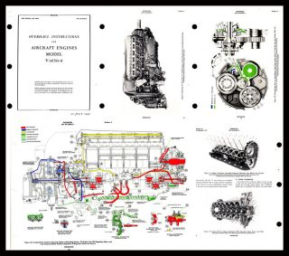 ROLLS ROYCE MERLIN AERO ENGINE V1650 9 OVERHAUL MANUAL in FULL