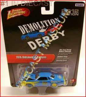 1976 76 OLDSMOBILE OLDS CUTLASS DEMOLITION DERBY DIECAST JOHNNY
