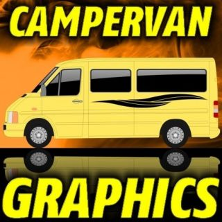VGAA121 VW LT GRAPHICS MERC SPRINTER DECAL KIT CAMPER