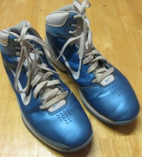 Used Nike 2010 Mens Sneakers Basketball Shoe High Top Size 8.5 Airmax
