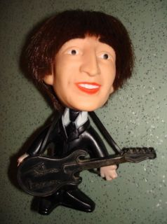 1964 JOHN LENNON Beatles NEMS hard body DOLL figure w/ GUITAR