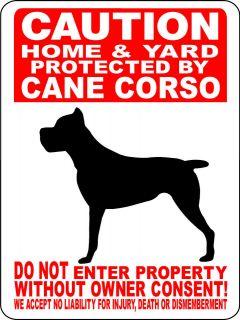 CANE CORSO Guard Dog Aluminum Sign Vinyl Decal 12 x 9 VINYL