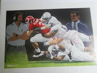 University of Alabama Rick Rush Painting Nick Saban,Joe Paterno,Trent