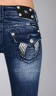 Miss Me Jeans Shadow Angel Wing Denim Boot Cut JP5082B22