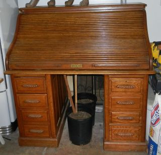 Oak Roll Top Desk From Ashley Furniture Lightly Used