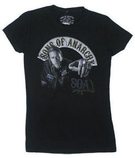 Jax Bi   Sons Of Anarchy Sheer Junior Womens T shirt
