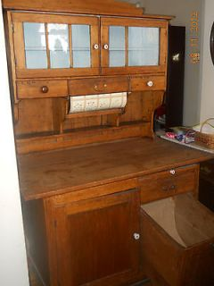 ANTIQUE HOOSIER CABINET    Late 1800s Early 1900s  Authent​ic!