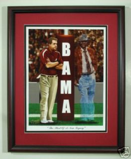 Alabama Football Nick Saban Bear Bryant framed print