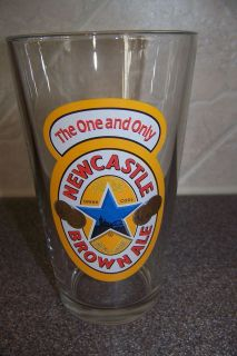 NEWCASTLE BROWN ALE The One and Only PINT GLASS UNITED KINGDOM BREWERY