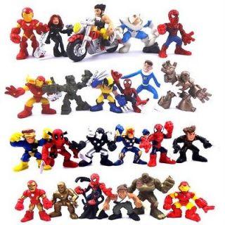 LOT 24X Marvel Super Hero Squad Spider Man The Avengers X Men Iron man