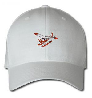 PONTOON PLANE AIRCRAFT SPORTS SPORT EMBROIDERED EMBROIDERY HAT CAP