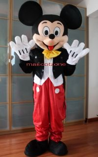 New Mickey Mouse Mascot Costume Adult Size Fancy Dress BIG SALE