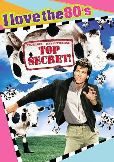 Top Secret DVD, 2009, I Love the 80s Edition CD Included Sensormatic