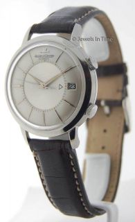 Jaeger LeCoultre Vintage 37mm Memovox Automatic Alarm Watch JEWELS IN