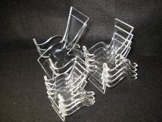 10 Clear Plastic Display Stands, Mixed Sizes 4S, 4M, 2L
