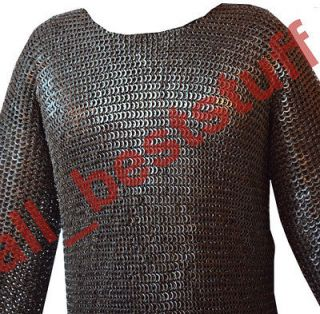 8mm MS Flat Riveted with Flat Washer Chain Mail Shirt MM