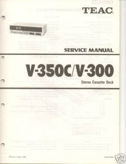 Original Teac Service Manual V 350C/300 Cassette Deck