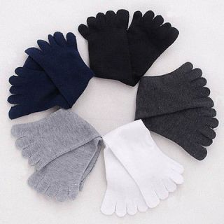 Mix Lot 5 Pairs Cotton 5 Fingers Five Toe Socks for Men Wholesale