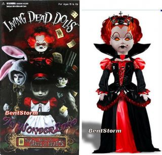 Living Dead Dolls Tim Burton RED Queen Alice IN Wonderland INFERNO