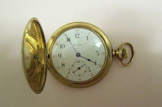 Antique Victorian Gold Filled Waltham Pocket Watch   Gorgeous Case
