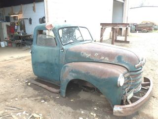 47 48 49 50 51 52 53 CHEVY PICKUP TRUCK CAB COWL ROOF TOP BACK FLOOR