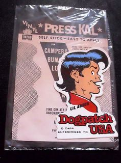 Lil Abner Daisy Mae DOGPATCH USA Press KAL Decal Sticker NEW IN PKG