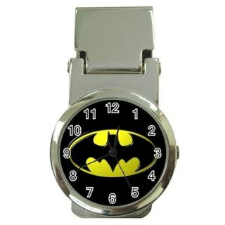 Batman Logo Metal chrome Money Clip Watch NEW FASHION HOT Gift