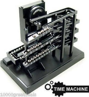 Time Clock Kinetic Rolling Chrome Ball Machine Keeper Can You Imagine