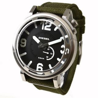 Diesel DZ1470 Mens Black Dial Green Fabric Strap watch