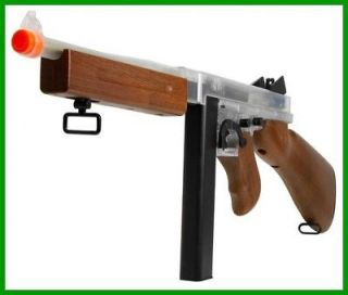 New Thompson M1A1 AEG, Clear/Wood,Sti​ck Mag,Airsoft Gun