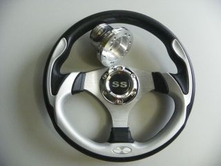 CLUB CAR DS GOLF CART CUSTOM SS SILVER STEERING WHEEL #700DS SS