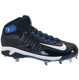 Nike Air SWINGMAN REMIX 2 Metal 3/4 Baseball Cleats Black Blue GRIFFEY