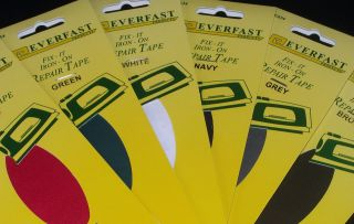 Iron On Fabric REPAIR TAPE 1METER X 35MM Choose A Colour FREE~POST