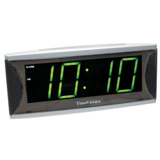 Super Loud Alarm Clock with 1.8 Inch Green LED
