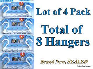 Pack (total of 8 SMART HANGERS) Space SAVING Closet ORGANIZER Hanger