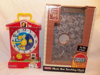Fisher Price Classics Music Box Teaching Clock