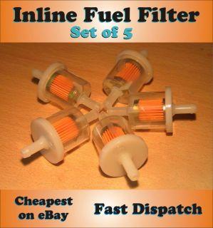INLINE FUEL FILTER Petrol Diesel Dirt Bike Lawn Mower Small Engine Set