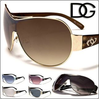 Aviator DG Eyewear Fashion Womens Sunglasses Metal Frame Brown Lens