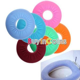 Bathroom Warmer Toilet Washable Cloth Seat Cover Pads