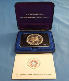 1973 bicentennial Commemorative Silver Medal in Coins US