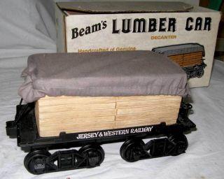 Jim Beam Lumber Car Train Decanter with Box