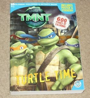 mutant ninja turtles 600 PAGE COLORING BOOK + stickers * RARE *HUGE