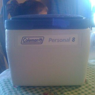 coleman, cooler, ice, box, w, water, tray