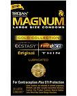 Trojan Magnum Gold Collection Combo Large Lubricated Condoms (3) Box