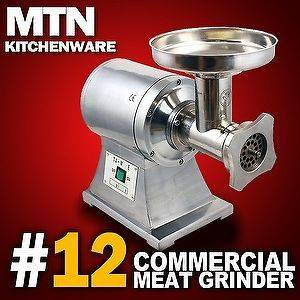 New MTN 1HP #12 Commercial Electric Meat Sauage Grinder