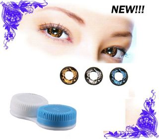 Contact lenses color case for Freshlook lenses, blue and pink color