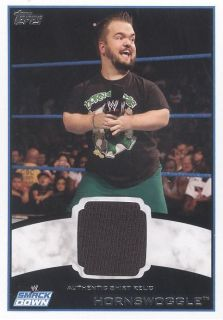 2012 Topps WWE Hornswoggle Authentic Shirt Relic Card