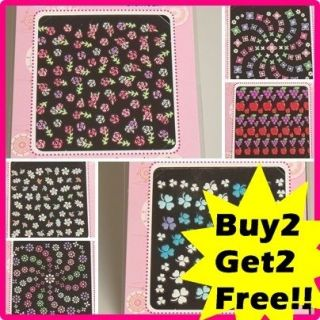 Design Nail Art Stickers, Choose your design, 2+2 (made in Korea