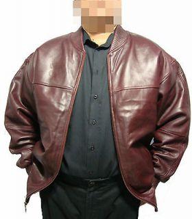 Genuine Leather Baseball Jacket Burgundy/Wine Color (Soft Sheep Skin